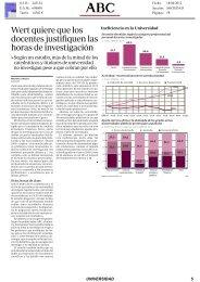 18/04/2012 Wert quiere que los docentes justifiquen las ... - OTRI