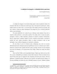 A condição de estrangeiro e a identidade latino-americana