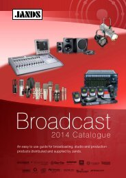 Broadcast Catalogue - Jands