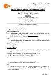 Anlage Muster Auftragsdatenverarbeitung ZDF - WDR.de