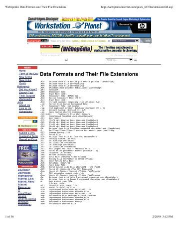 Data Formats and Their File Extensions  Practically Networked