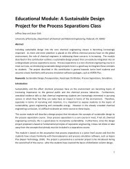 A Sustainable Design Project for the Process Separations Class