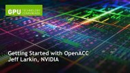 Getting Started with OpenACC - GPU Technology Conference