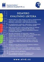 Desatera - verze pro tisk - Asociace institucí vzdělávání dospělých ...