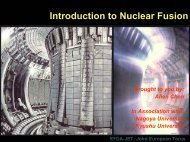 Introduction to Nuclear Fusion
