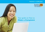 Download our booklet on making a complaint - Banking Info