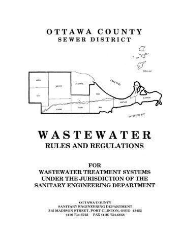 ottawa county sewer district wastewater rules and regulations for ...