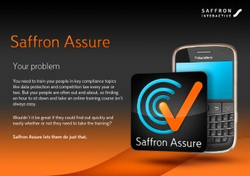 Your problem - Saffron Interactive