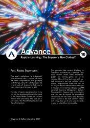 2 Advance, © Saffron Interactive 2007