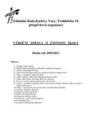 Výroční zpráva 10/11 - Základní škola Karlovy Vary, Truhlářská 19, po