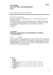 und Heimatschutz (NHV) - Nationale Informationsstelle für ...