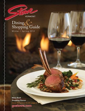 2012 Dining & Shopping Guide - GoStowe.com