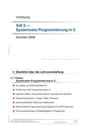 GdI 2 — Systemnahe Programmierung in C - CS 4