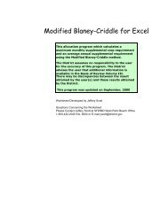 Modified Blaney-Criddle for Excel