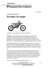 Presseinformation Honda CRF450R 30-05-2012 - LifePR.de
