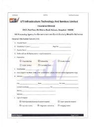 UTI-ITSL Registration Form For Hospitals - ECHS