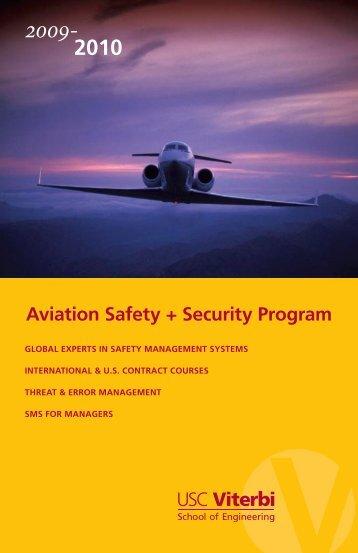 2010 Aviation Safety + Security Program - USC - Viterbi School of ...