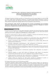 'Piano di programmazione per l'anno 2013 - CSV Marche