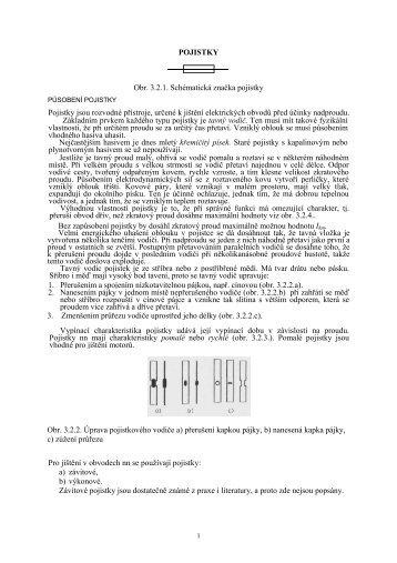 POJISTKY Obr. 3.2.1. Schématická značka pojistky Pojistky jsou ...