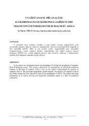Využití ANSYSu při analýze elektromagnetického pole zařízení pro ...