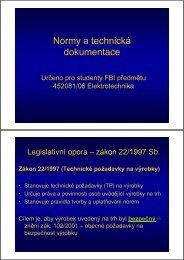 Normy a technická dokumentace
