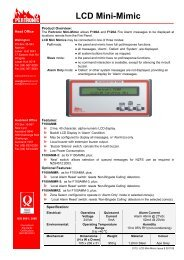 LCD Mini-Mimic - Pertronic Industries