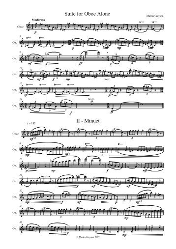 Suite for Oboe Alone II - Minuet