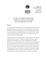 A response to the National Curriculum Board's The Shape of the ...