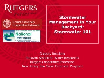 Stormwater 101 - Rutgers Cooperative Extension Water Resources ...