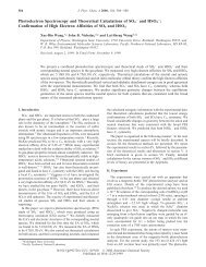 Photoelectron Spectroscopy and Theoretical Calculations of SO4 ...