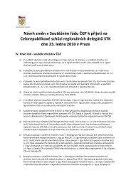 Návrh změn v Soutěžním řádu ČGF k přijetí na Celorepublikové ...