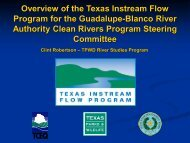 Overview of the Texas Instream Flow Program for the Guadalupe ...