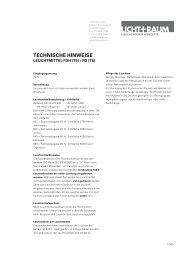 Technische hinweise - Licht+Raum AG