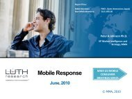 Mobile Response to Ads - Mobile Marketing Association