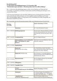 Berufsbildung 2010 11. Bayerischer Berufsbildungskongress 7./8 ...
