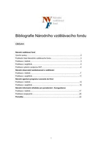 Bibliografie NVF - Národní vzdělávací fond