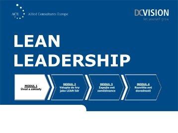 Oceněný projekt Lean Leadership - změna myšlení pro zlepšování