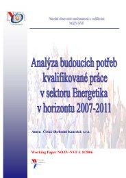 Analýza potřeb trhu práce v sektoru Energetika - Národní vzdělávací ...