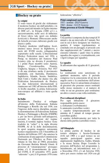 Hockey su prato - La Gazzetta dello Sport