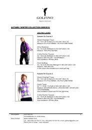 AUTUMN / WINTER COLLECTION 2009/2010 - Golfino