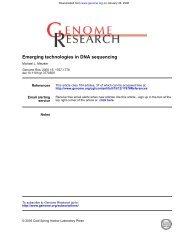 Emerging technologies in DNA sequencing - Bioinformatics