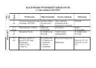 kalendarz uroczystości szkolnych - ZSP nr 2 w Ostrowi Mazowieckiej