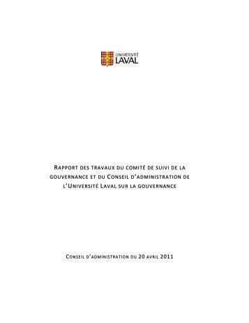 Consultez le rapport (PDF) - Université Laval