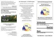 Einladungsflyer Schönstatt Quarten Rom Oktober 2014