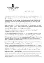 Acta Consejo Directivo, 1º Sesión Extraordinaria - Facultad de ...