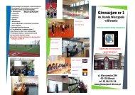 Ulotka promocyjna szkoły - Gimnazjum nr 1 w Bieruniu - Bieruń