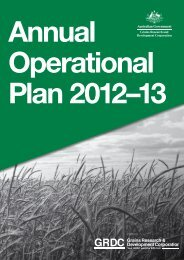 GRDC Annual Operational Plan 2012-13 - Grains Research ...