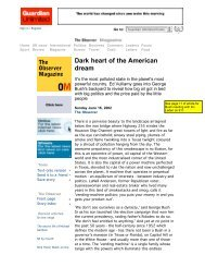 Dark heart of the American dream - UCI Cognitive Sciences