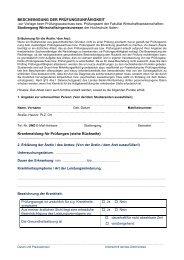 Attest bei Krankheit zur Prüfung - Hochschule Aalen
