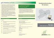 Geodateninfrastruktur für Sachsen Metadaten - Faltblatt